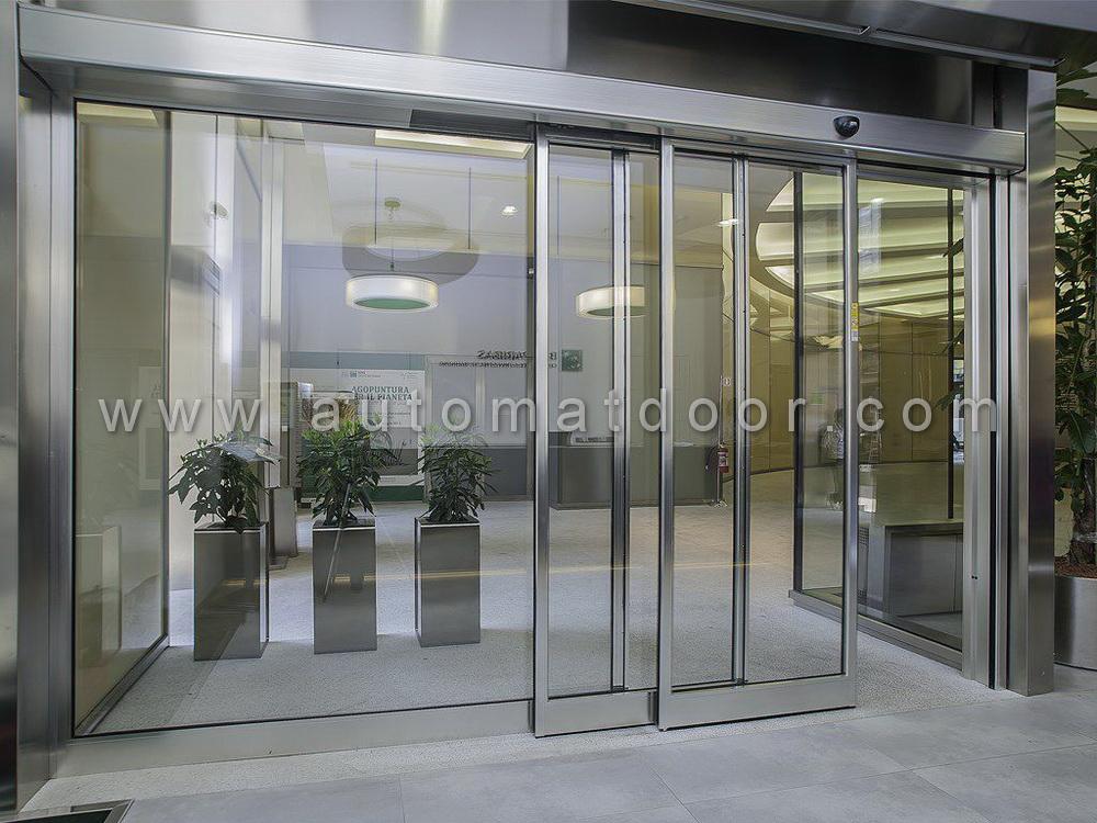 درب اتوماتیک شیشه ای بانکی