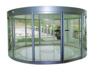 درب اتوماتیک شیشه ای منحنی (قوسی)